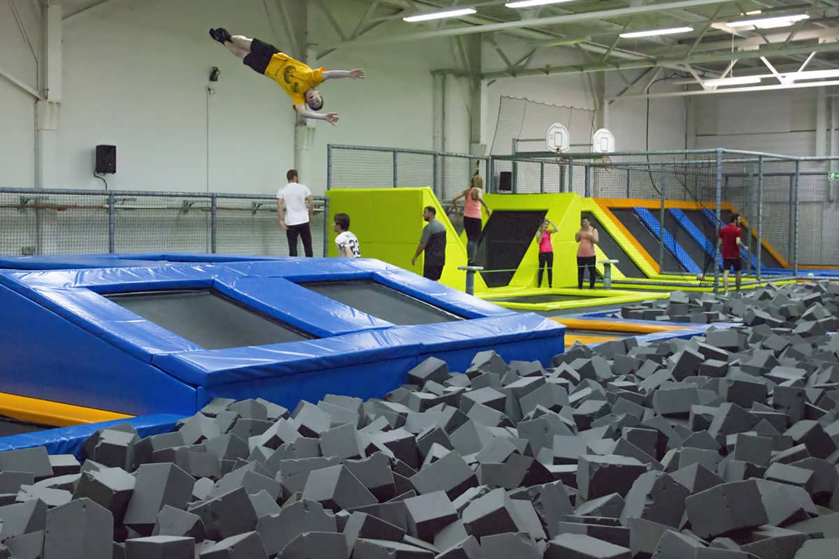 Jumpark trampoline indoor for Piscine yverdon